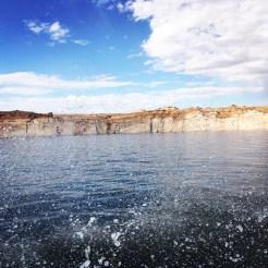 Water splashing on Lake Powell, Arizona