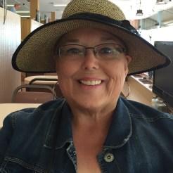 Deborah with a hat!