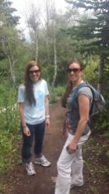 Leah hiking in Utah with her sister.