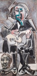 The Guitarist, Pablo Picasso, 1965, Oil on Canvas. Dallas Museum of Art, The Art Museum League Fund, © Estate of Pablo Picasso / Artists Rights Society (ARS), New York. 1987.371