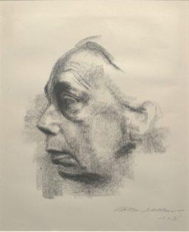 Käthe Kollwitz, Self Portrait, 1927, lithograph, Dallas Museum of Art, gift of Mr. and Mrs. Alfred L. Bromberg, 1953.37