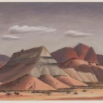 Jerry Bywaters, Christmas Mountains, by 1939, pastel on board, Dallas Museum of Art, Titche-Goettinger Company and Art Education Club Prize, Tenth Annual Dallas Allied Arts Exhibition, 1