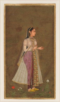 """Unknown artist, """"Portrait of a Noblewoman,"""" 1675-1700, opaque watercolor on paper, Intended bequest of David T. Owsley, 7.2007.20"""