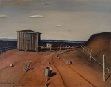 "Harry Carnohan, ""West Texas Landscape,"" 1934, oil on Masonite, Dallas Museum of Art, Neiman-Marcus Company Purchase Prize, Seventh Annual Dallas Allied Arts Exhibition, 1935, 1935.2"