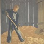 John Butler, Man in Corncrib, c. 1933-1934