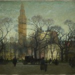 Paul Cornoyer, Afternoon in Madison Square, 1910