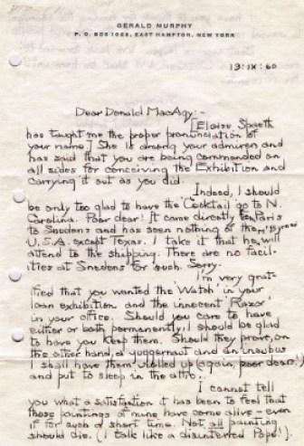 Gerald Murphy letter