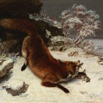 6.-Gustave-Courbet-Fox-in-the-Snow-1860