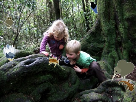 William and Josie Webb meet our forest friends in Riccarton Bush.