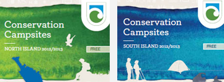 Brochures are available for camp sites in the North and South Island.