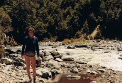 The author Sarah, as a leggy 13-year-old in the Kaimanawas.