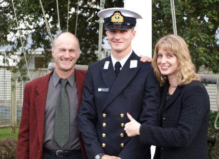 Kelly with her brother Fraser graduating as a Navy Officer.