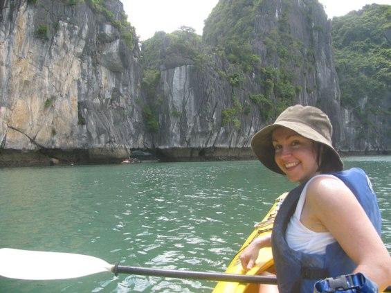 Gen Spargo kayaking in Vietnam.
