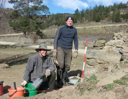 Bendigo Bakehouse excavation with Matt Schmidt, Historic Places Trust.