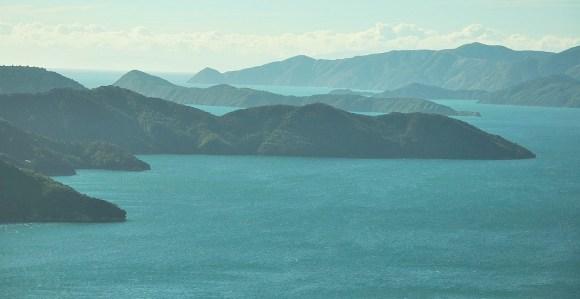 Stunning views of the Marlborough Sounds.