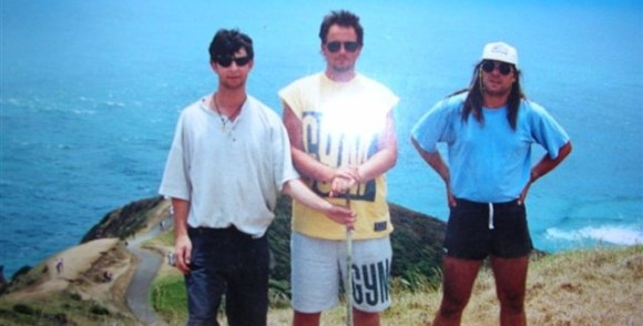 Stacey with friends at Cape Reinga.