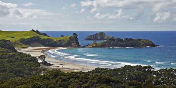 Great Barrier Island beach. Photo: Andris Apse.