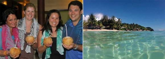 Left: Gina and friends in Samoa. Right: Samoa.