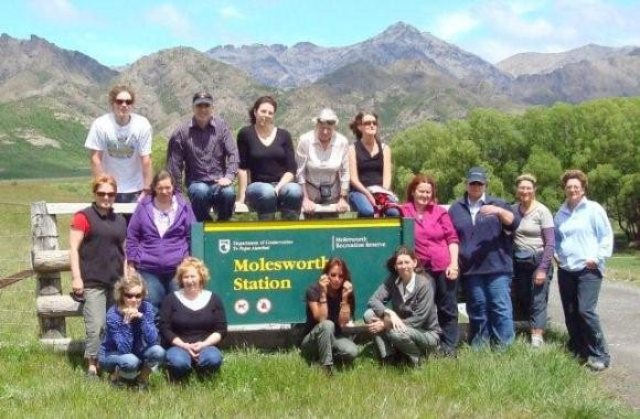 Wendy and the Nelson Marlborough DOC team at Molesworth Station.