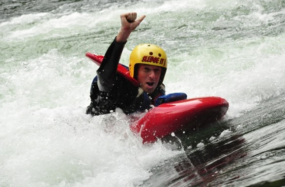 Mark Anderson in the white water.