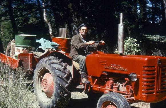 Man on a tractor.