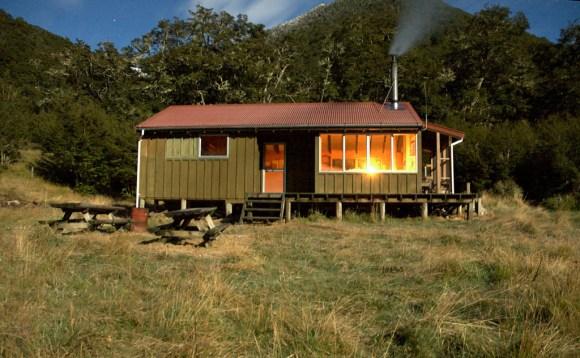 Boyle Flat Hut, Lake Sumner.