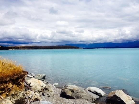 The alpine blue waters of Lake Pukaki.