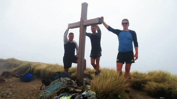 Mount Hector wooden cross.