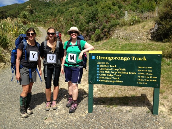 Mums starting on Orongorongo Track.