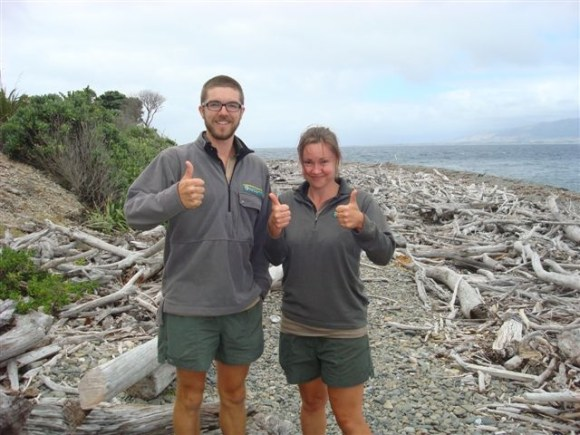 Nick and Kapiti Island ranger Gen.