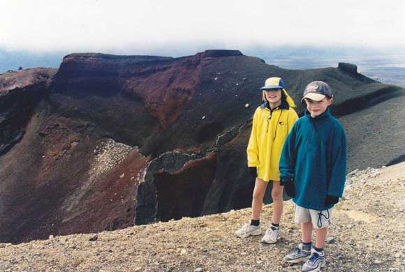 Doing the Tongariro Crossing as a child. Something I really want to do again.
