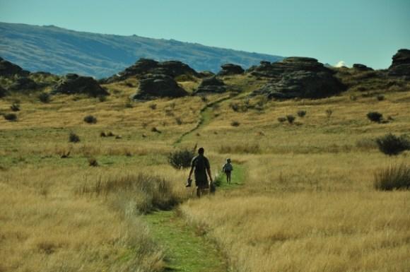 Walking the 3.5 kilometre track to Sutton Salt Lake.