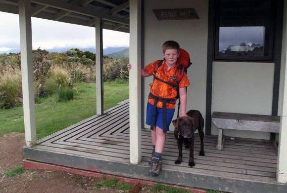 Fenn at Rangiwahia Hut.
