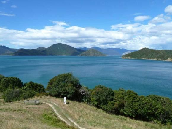 View from Comalco Lodge, Maud Island