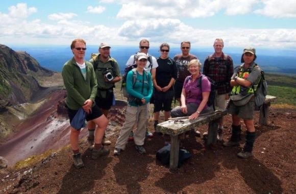 The Terrestrial Ecosystem team at Mt. Tarawera.