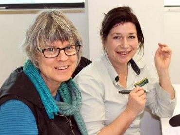 Jane Hughes meeting Moira Cursey, Waikato Biodiversity Forum Coordinator