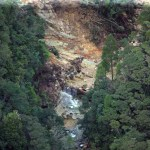 Kaiaraara Dam destroyed after the storm
