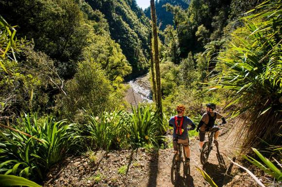The Pakihi Track is now a magnificent wilderness ride. Photo copyright Motu Trails Cycleway.