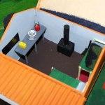 Inside the miniature Iron Gate Hut