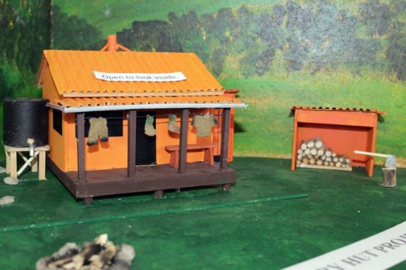 Miniature backcountry hut