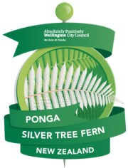 Ponga - Silver Tree Fern 'pin'.