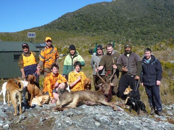 DOC's Secretary Island hunting team.