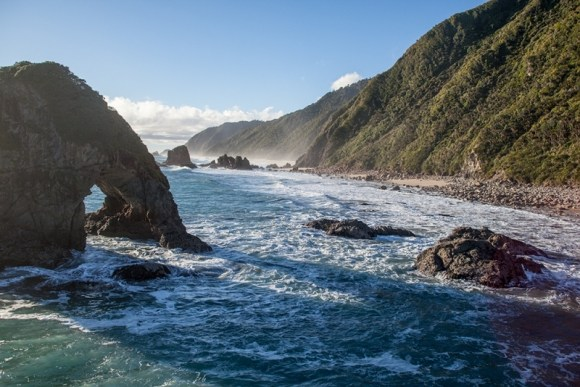 Kahurangi Marine Reserve coastline. Photo copyright of Andrise Apse.