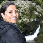 Manisha Patel at the source of the Riwaka River.
