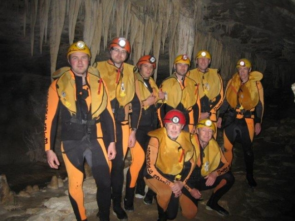 The DOC southern team during the Charleston underworld caving experience.