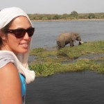 Renee Potae with Elephant.