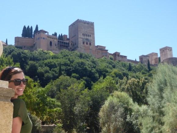 Amy outside of La Alhambra in Granada, Spain.