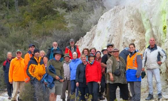 Visitors to the Rotokawa Geothermal Area.
