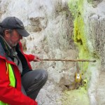 Dr Harry Keys in Rotokawa Geothermal Area.