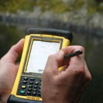 Close-up of Trimble: waterproof and rugged